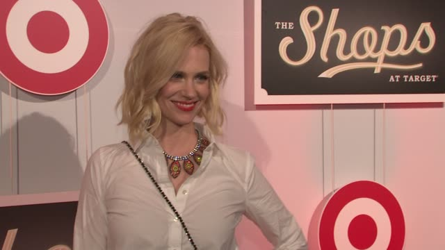 january jones at the shops at target private launch event on in new york - january jones stock videos & royalty-free footage