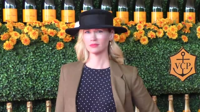 January Jones at the sixth annual Veuve Clicquot Polo Classic at Will Rogers Historic State Park in Pacific Palisades at Celebrity Sightings in Los...