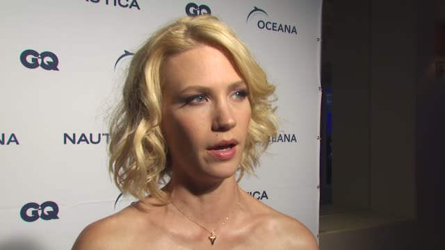 january jones on her involvement with world oceans day if she feels this years event has a greater importance because of what's going on in the gulf... - january jones stock videos & royalty-free footage