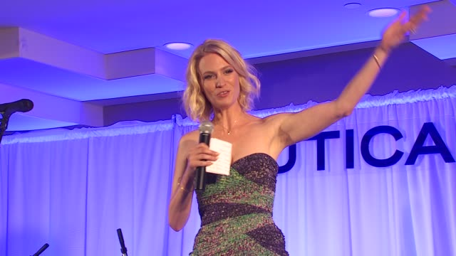 january jones welcoming people to event at the nautica celebrates world oceans day at west hollywood ca - january jones stock videos & royalty-free footage
