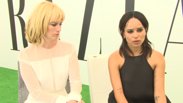 interview january jones zoe kravitz on the impact of killing the importance of having a female perspective in the film at 'good kill' interviews 71st... - january jones stock videos & royalty-free footage