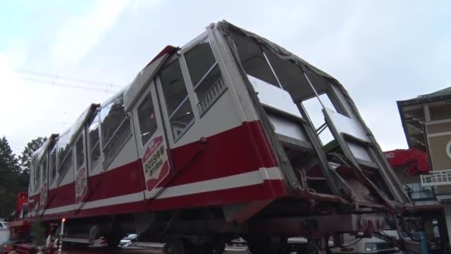 vídeos de stock, filmes e b-roll de monks read sutras on dec. 7 as a cable car at nankai electric railway co.'s koyasan station, the entrance to mt. koya in wakayama prefecture, western... - cable