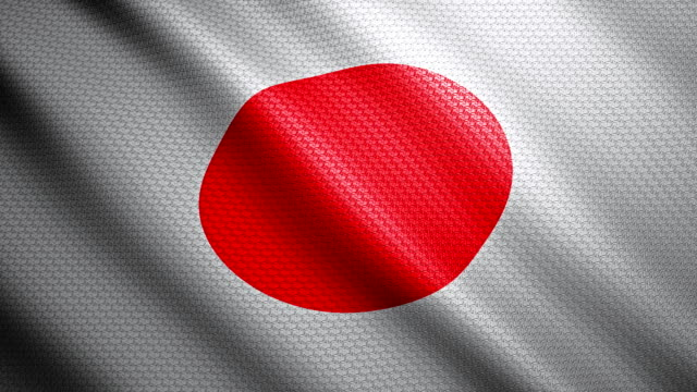 japan flag 4k - japan flag stock videos & royalty-free footage
