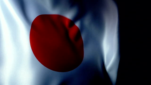 japan flag flapping - north pacific stock videos & royalty-free footage