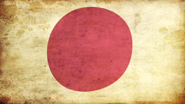 japan flag - grunge. hd - frayed stock videos & royalty-free footage