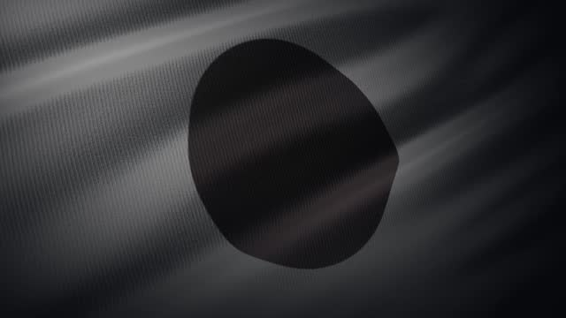4k japan flag waving in the wind with highly detailed fabric texture - international politics stock videos & royalty-free footage