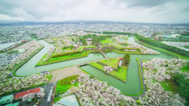 Japan Hakodate Goryokaku Aufsicht Timelapse