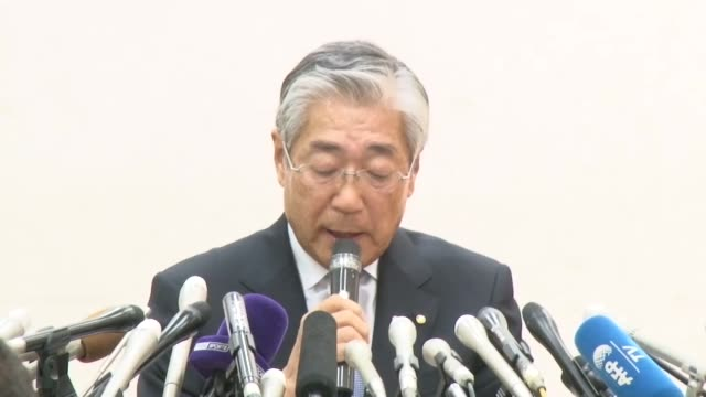stockvideo's en b-roll-footage met tokyo japan kyodo japanese olympic committee president tsunekazu takeda meets the press in tokyo on jan 15 over an allegation of bribery linked to... - omkoping