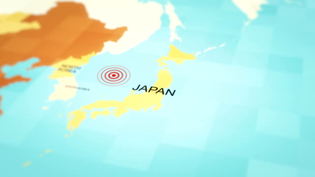 japan map earthquake, 4k animation - rubble stock videos & royalty-free footage