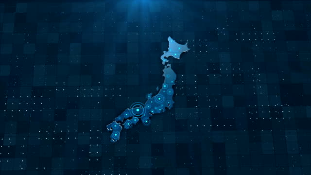 4k japan map links 4k with full background details - japan stock videos & royalty-free footage