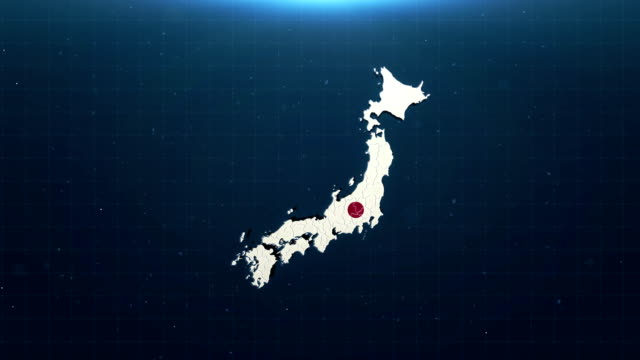 4k japan map with national flag - climate map stock videos & royalty-free footage
