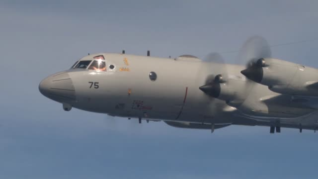 japan maritime self-defense force p-3c fires during a sinkex as part of rim of the pacific exercise 2014 - japan stock videos & royalty-free footage