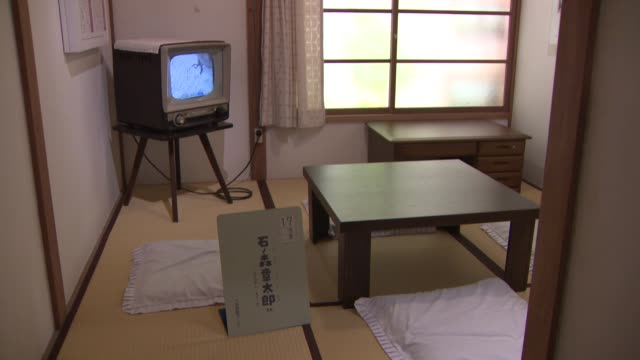 movie taken on june 27 shows a manga museum in tokyo on june 27 housing a recreation of the demolished tokiwaso apartment, which was home to... - 漫画家点の映像素材/bロール