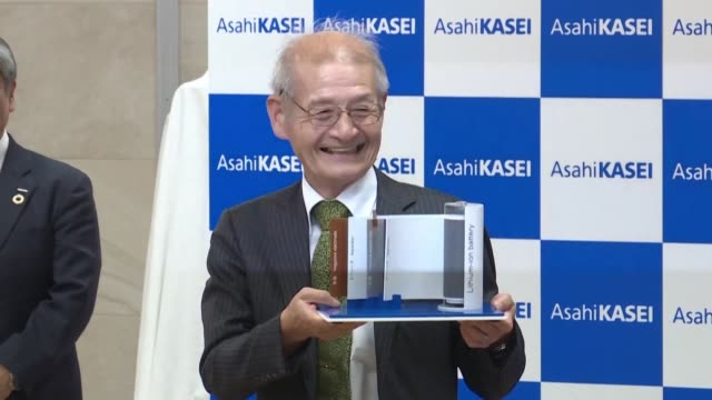 japan pioneer of lithium ion battery akira yoshino speaks after winning a nobel chemistry prize in tokyo - lithium ion battery stock videos & royalty-free footage