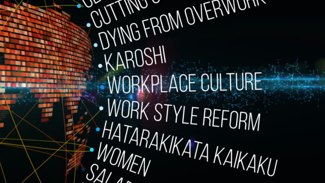 japan productivity crisis terms - overworked stock videos & royalty-free footage
