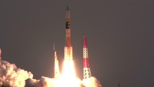 japan put into orbit wednesday an xray astronomy satellite that could shed light on the mysteries of black holes carried on an h2a rocket launched... - space and astronomy stock videos and b-roll footage