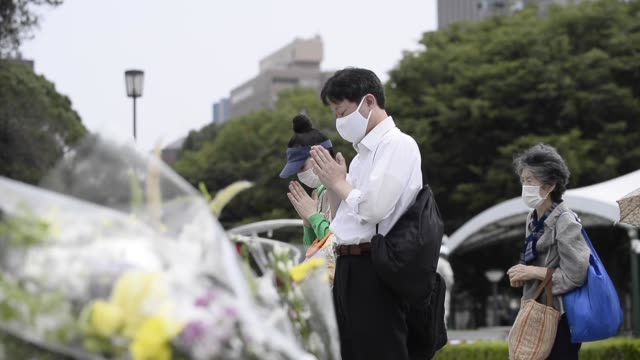 japan remembers the victims of atomic bombing on august 06, 2020 in hiroshima on the 75th anniversary with ceremonies downsized due to the... - nuclear fallout stock videos & royalty-free footage
