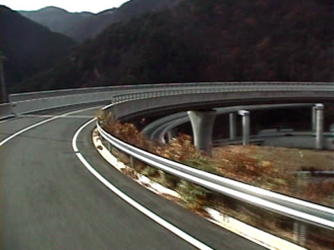 japan spiral road - nagano prefecture stock videos and b-roll footage