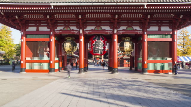 japan, tokyo, asakusa, sensoji temple, hozomon or treasure house gate - hanging stock videos & royalty-free footage