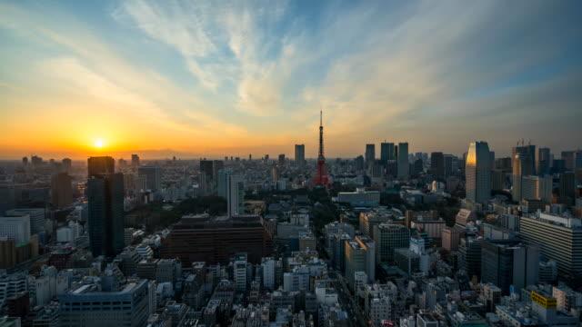 Paysage de ville de Tokyo de Japon