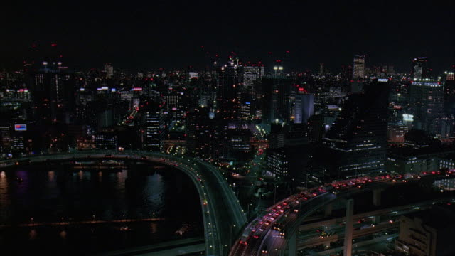 ws, ha, japan, tokyo, cityscape at night - underpass stock videos & royalty-free footage