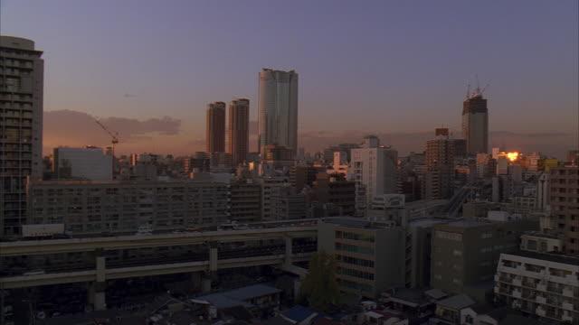 ws, pan, japan, tokyo, cityscape - 2005年点の映像素材/bロール