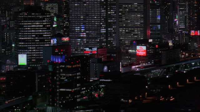 ms, ha, pan, japan, tokyo, illuminated downtown district at night - underpass stock videos & royalty-free footage