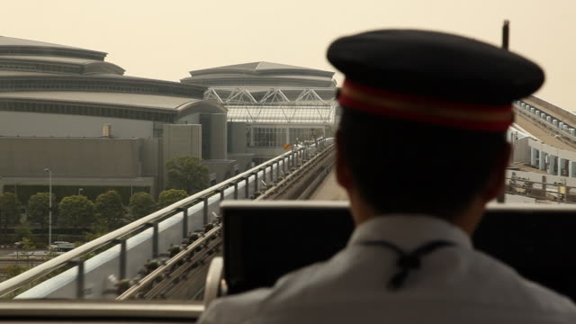 japan, tokyo, odaiba - monorail stock videos and b-roll footage
