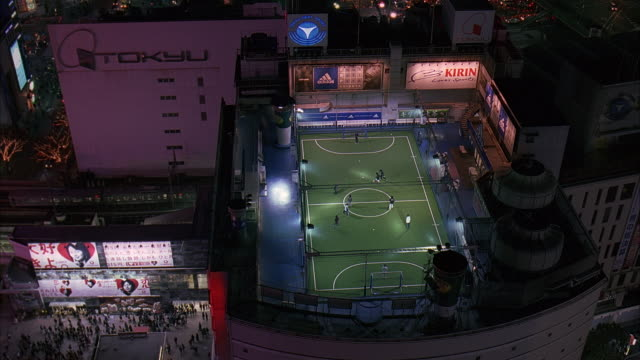 ms, ha, japan, tokyo, soccer game at night - unknown gender stock videos & royalty-free footage