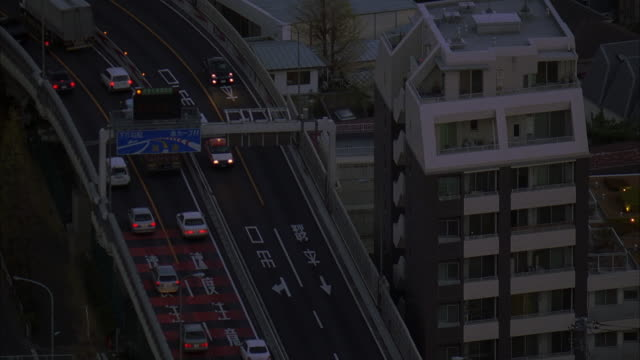 ha, ts, japan, tokyo, traffic on highway - underpass stock videos & royalty-free footage