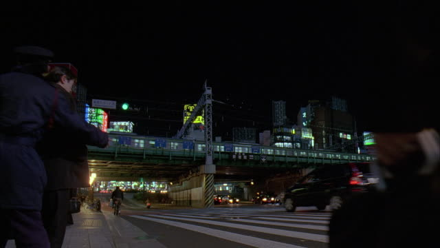 ms, japan, tokyo, traffic on street at night - underpass stock videos & royalty-free footage