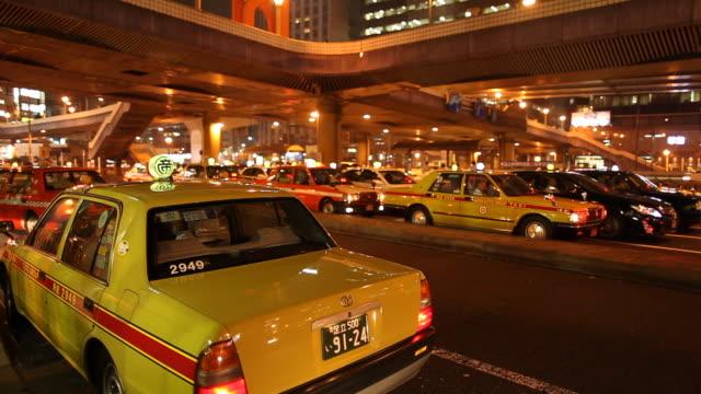 japan, tokyo, ueno - タクシー点の映像素材/bロール