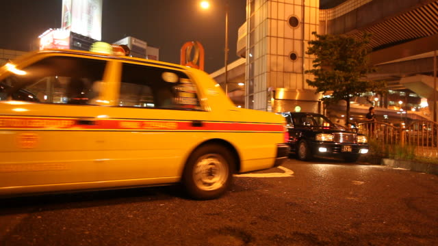japan, tokyo, ueno - taxi stand stock videos and b-roll footage