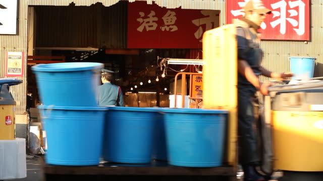 japan, tokyo - ドラム容器点の映像素材/bロール