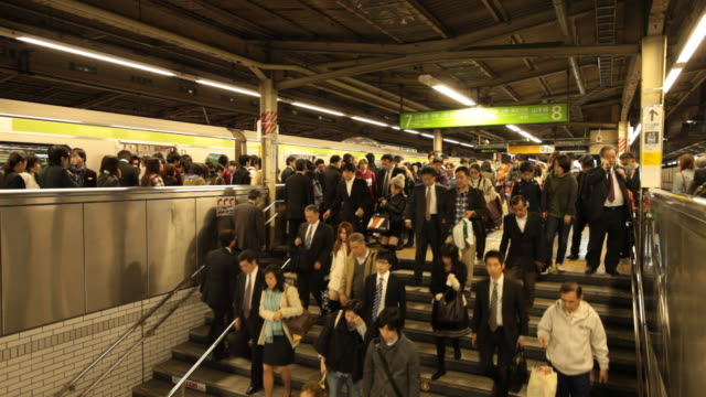 japan, tokyo - railway station platform stock videos & royalty-free footage