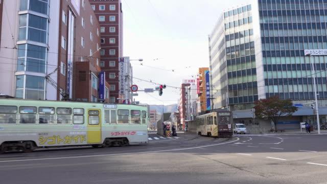 日本路面電車 transportation_4k - 路面電車点の映像素材/bロール