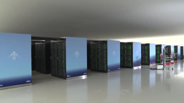 video taken march 9 shows the riken center for computational science in kobe, western japan. the fugaku supercomputer, the world's fastest in terms... - big data stock videos & royalty-free footage