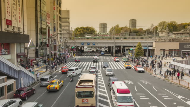 japan_ueno_intersection_timelapse - okinawa stock videos and b-roll footage
