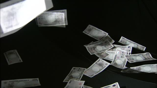 japanese 10,000 yen banknotes - 紙幣点の映像素材/bロール