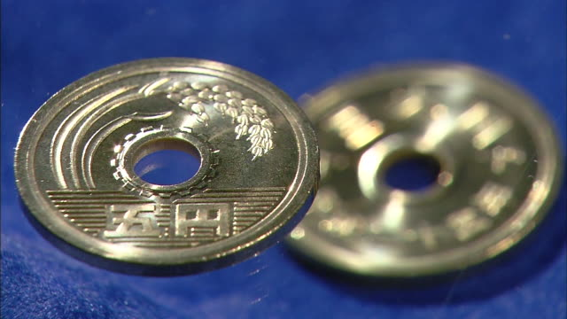 japanese 5 yen coin - number 5 stock videos & royalty-free footage