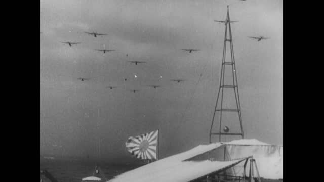 vídeos de stock, filmes e b-roll de japanese air raid on shanghai - air raid