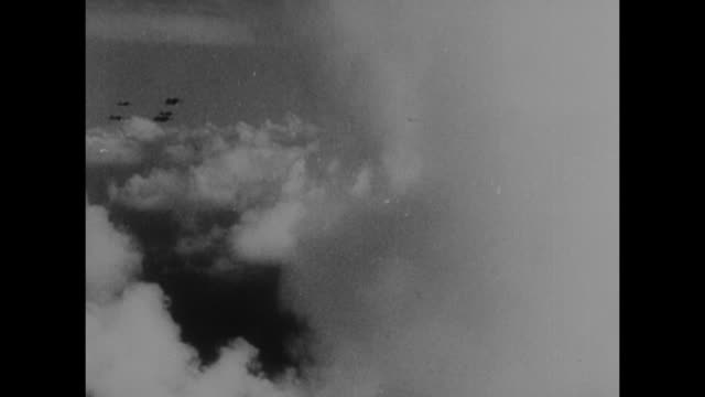 vs japanese airplanes fly overhead in v formations with pan down to control tower title card with japanese writing / pov of airplanes moving through... - japanese military stock videos & royalty-free footage