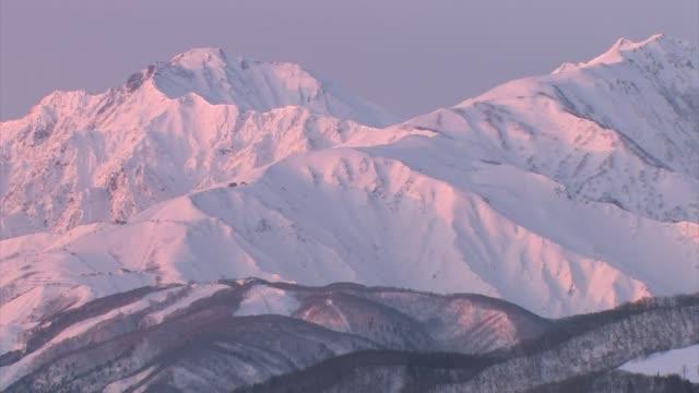 japanese alps, honshu, japan - pink stock videos & royalty-free footage