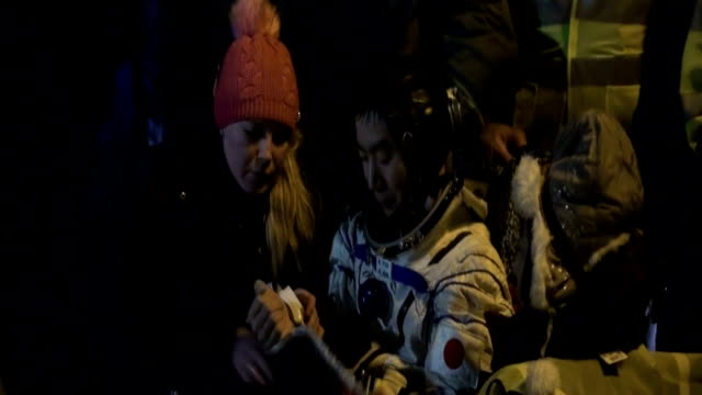 japanese astronaut kimiya yui and two colleagues working at the international space station returned to earth on friday evening after completing... - flight case stock videos and b-roll footage