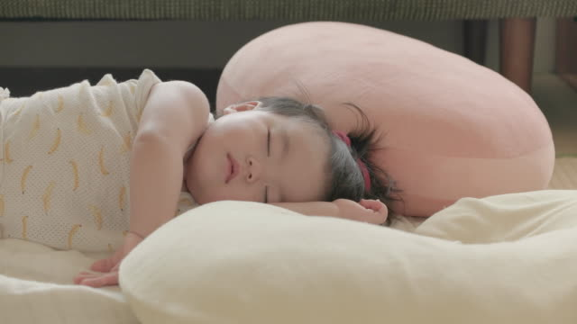 japanese baby sleeping in a room. - tatami mat stock videos and b-roll footage