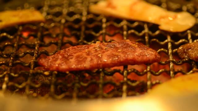japanese beef grilled - roast beef stock videos & royalty-free footage