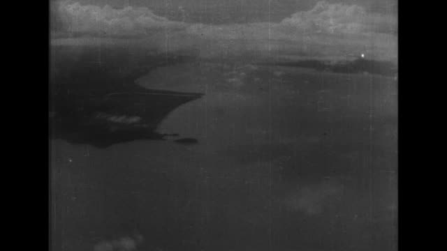 japanese bombers fly over the malay peninsula and drop bombs on british military sites - bomber stock videos and b-roll footage