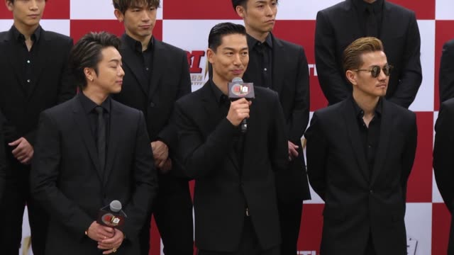 japanese boy band exile attends a press conference on january 12 2020 in taipei taiwan of china - boy band stock videos & royalty-free footage