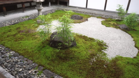 japanese buddhist temple courtyard - shrine stock videos & royalty-free footage