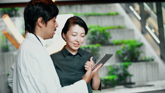 ms japanese business colleagues using a digital tablet - business relationship stock videos and b-roll footage